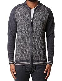 Hommes Zip Cardigan à Tokyo blanchisserie Pitcher laine mélangée Casual Sweater Tricots