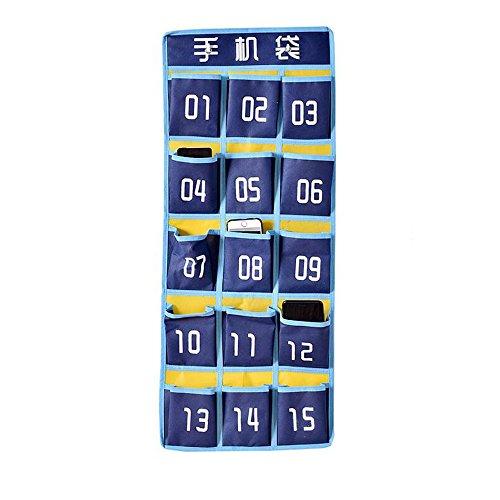 ERRU- Poche Pendaison version numérique imprimée de sac de téléphone mobile de stockage, salle de classe murale derrière le sac de rangement de téléphone mobile de la porte ,de Rangement Suspendu Organiseur ( couleur : #4 )