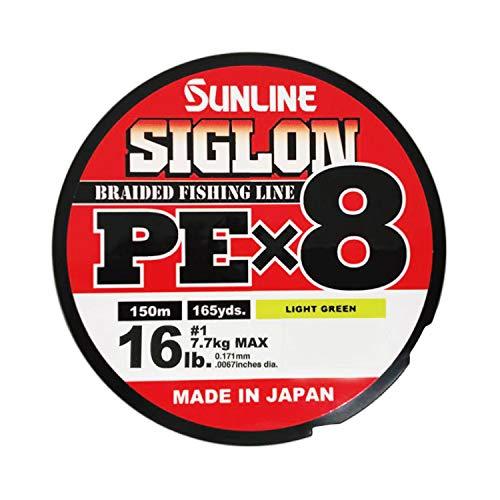 Unbekannt Sunline Siglon PE X8 150 m 16LB/7,7kg PE #1 Light Green -