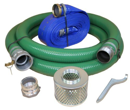 Abbott Rubber X1240-KIT-4000-1147-CN Water Pump Hose Kit, Includes 4-Inch Suction and Discharge Hose -