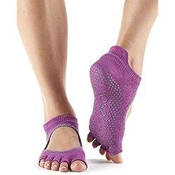 TToeSox agarre media punta calcetines Bellarina, se puede utilizar para barras, yoga, pilates, calcetines antideslizantes fitness - 1 par (Mulberry Batik)