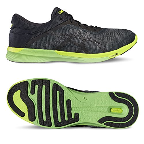 Asics Fuzex Rush, Chaussures de Course Homme Noir (Carbon/black/safety Yellow)