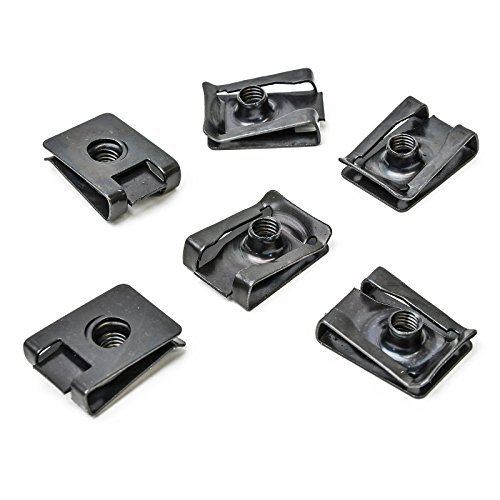 10x Universal Metall Halterung Klammern Klemm Mutter M5 x 21 x 15 Uni   CL-0382