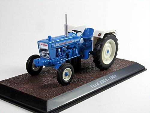 Atlas Modell 1:32 Traktor Ford 5000 Blau Weiss 1969 7517027