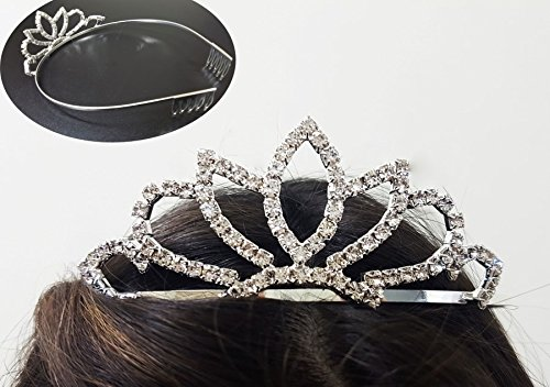 takestop® Krone Glitter Diadem Tiara Diadem Prinzessin Party Adieu Polterabend Fest Haar Accessoires Frisur Styling