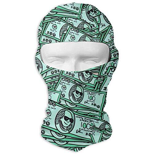Xukmefat Green Cash Vollgesichtsmaske Balaclava Wind Resistant Face Mask