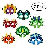 Yeahibaby Máscara de Dinosaurio   Party Decorations for Kids Themed Party Masquerade - Juego de 7