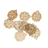 #8: Anbau Pack of 10 Wood Shapes Piece Wood Charms Woodcrafts Decorations DIY Crafts