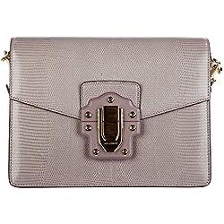 Dolce&Gabbana bolsos con asas largas para compras mujer en piel nuevo lucia gris