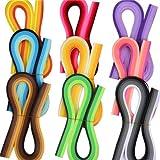 Byou Quilling Papier,Quilling Kunst Streifen 900 stücke 5mm Verschiedene Farben Zum Kunsthandwerk DIY 39cm 39 cm Länge