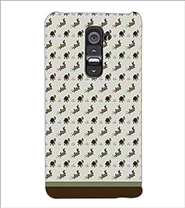 PrintDhaba Animal Pattern D-1762 Back Case Cover for LG G2 (Multi-Coloured)