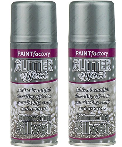 silver-glitter-effect-colour-spray-paint-decorative-creative-crafts-200ml-x2