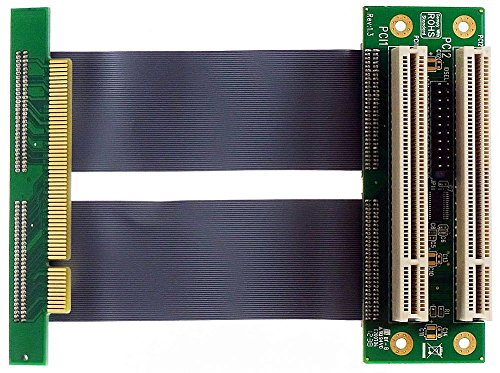 Sintech - 1 x PCI a 2 x PCI scheda riser PCI FLEX-cavo 10,16 cm ID9562 - Flex Riser