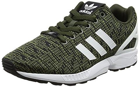 adidas ZX Flux, Baskets Basses Homme, Vert (Night Cargo/Footwear White/Core Black), 41 1/3 EU