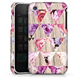 DeinDesign Apple iPhone 3Gs Coque Étui Housse Bois & roses