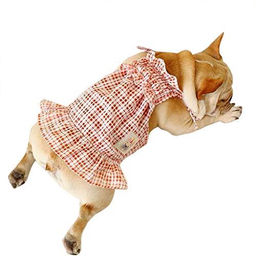 Haustierkleidung Hundekleidung Kleiner Hund Kariert Welpen, Hawkimin Katze Tutu Kleid Pet Puppy Sundress Kleidung Bekleidung Hundkostüm Hustierkostüm für Feste Halloween Weihnachten