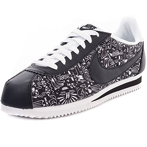 Nike Donna Wmns Classic Cortez Print scarpe sportive nero Size: 36
