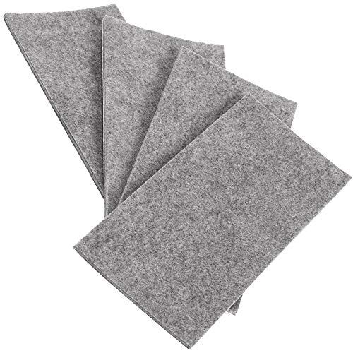 200x300 mm Schwarz Adsamm/® rechteckig 3.5 mm starker Filzzuschnitt in Top-Qualit/ät von Adsamm/® selbstklebende Filzplatte