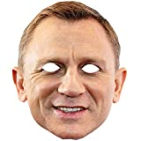 Daniel Craig James Bond Celebrity Card Face Mask Fancy Dress Party Single Face Mask On Sticks Ready To Wear