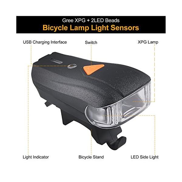 Bike Lumières Rechargeable Usb Vélo Eclairage Lumen 5 Vtt Avant Lampe Light Ultra Impermeable Myguru Phare Modes Pour Led Arrière Puissante 400 mN0OPwy8vn