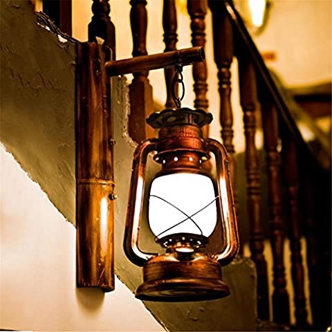 Atmko®Applique Murale Applique murale Applique murale Vintage Industrial Bamboo Applique murale Chambre à coucher Couloir Bar Café Restaurant Escalier Décorations d'éclairage