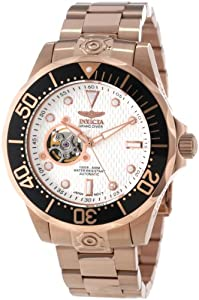 "Invicta Caballero 13712 ""Pro Diver"" 18k Rose Gold Ion-Plated Stainless Steel Automatic Reloj de Invicta"