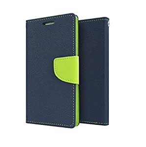 Samsung Galaxy Star Pro S7262 Mercury Flip Wallet Diary Card Case Cover (Blue/Green) By Rainbow