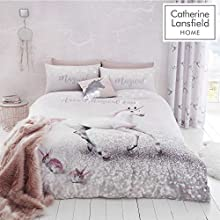 Catherine Lansfield Enchanted Unicorn Easy Care Single Duvet Set Pink