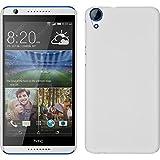 PhoneNatic Case für HTC Desire 820 Hülle weiß gummiert Hard-case + 2 Schutzfolien