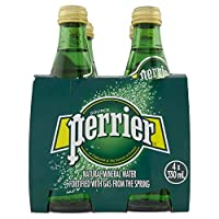 Perrier Sparkling Mineral Water Regular Glass Bottle, 4 x 330 ml