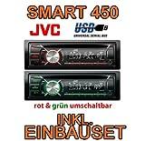 Smart 450Blu-JVC-CD/MP3/USB Autoradio-Set di installazione