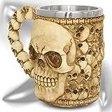 """Jarra XL """"Catacumbas"""" - Taza calavera cráneo (0,5l) - Altura 13,5 cm - Decorazione Horror Medieval Fantástico"""