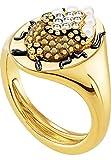 Swarovski Damen-Ring MAGNETIC Metall Swarovski Kristalle gold, 50 (15.9)