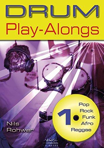 Nils Rohwer Drum Play-Alongs Volume 1 Rop Rock Funk Afro Reggae Bk/Cd