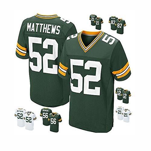 HULUNBR NFL Green Bay Packers 12 Die Legendäre Trikot-Fußballuniform Der Zweiten Generation Von Rodgers. Bestickte Elite-Version Der Amerikanischen Fußballuniformen. Atmungsaktives Sweatshirt S-XXXL