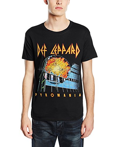 Plastic Head Def Leppard Pyromania-T-shirt  Uomo    nero Small
