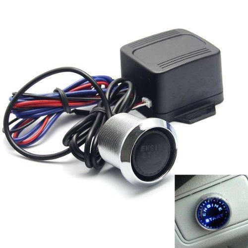 Bleu 12 C Camion de voiture LED Poussoir Bouton de démarrage du moteur Starter Switch allumage kit