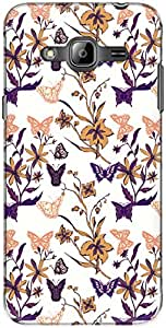 The Racoon Lean printed designer hard back mobile phone case cover for Samsung Galaxy J3 (2016). (Violet Mag)