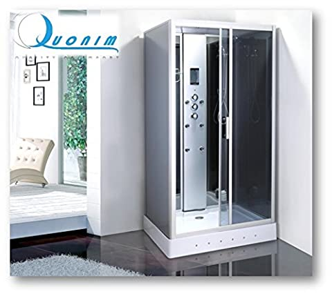 Box douche Jacuzzi Cyclamen 110x 90cm rectangulaire lumière intérieure cabine douche Full Optional modèle luxe avec radio