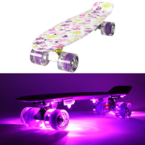 makanih led skateboard mit leuchtrollen leuchtend penny style longboard street cruiser. Black Bedroom Furniture Sets. Home Design Ideas
