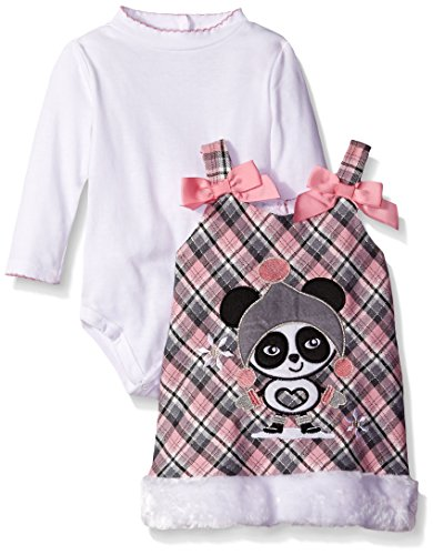 Youngland Entzückendes Pandabär Träger-Kleid inkl. Body Gr. 74,80,86 Größe 74 - Outfits Youngland Mädchen Für