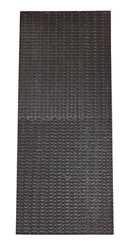 Sohlengummi groß zur Anfertigung von Schuhsohlen oder als Anti Rutsch Belag - 3,5 mm, Wellenprofil, schwarz von Langlauf Schuhbedarf® inklusive Anleitung