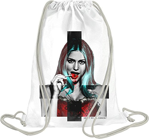 (Arent We All Sinners Drawstring bag)