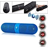 #7: Wireless V3.0 Stereo Bluetooth Speaker With FM/Pendrive & SD Card Input, Mic, High Definition Audio Compatible With All Kinds of Mobile, Tablet, PC & Laptops (Blue)