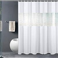 Nationalmater Shower Curtain 3D Splice EVA Waterproof Bathroom Curtains Mildew Proof 78x72 Inch