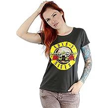Bravado - Camiseta de manga corta para mujer