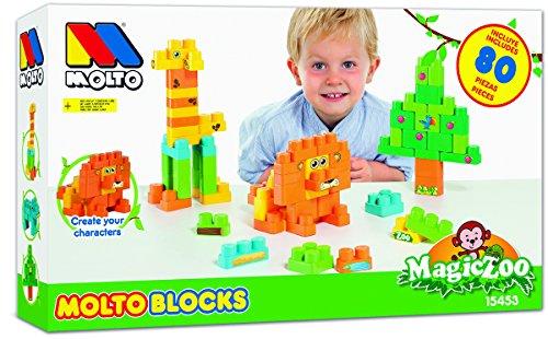 Molto - Blocks Magic Zoo, 80 piezas (15453)
