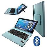 Odys Maven 10 Pro plus 3G - Deutsche Tastatur Tablet Schutzhülle mit Standfunktion - 10.1 Zoll Tu rkis Bluetooth Tastatur