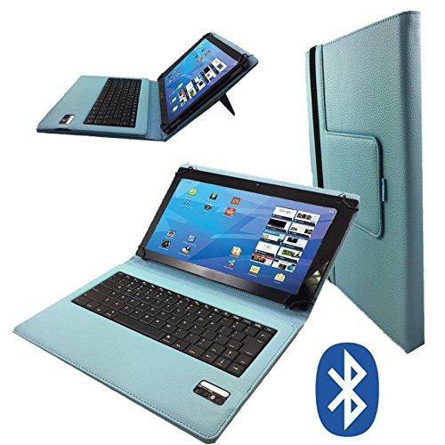 Deutsche Bluetooth Tastatur für SAMSUNG GALAXY TAB 4 NOOK SM-T230 Schutz Hülle Etui mit Standfunktion - 7 Zoll Tu rkis Bluetooth Tastatur Samsung Galaxy Tab 4 Nook-etui