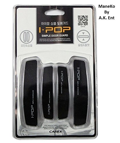 ManeKo CAREX I-POP Car Door Scratch Guard Protector for Hyundai Verna Fluidic All Models & Types - Black (Set of 4)  available at amazon for Rs.175
